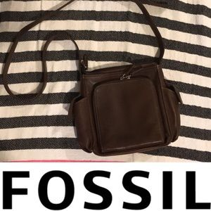 Fossil brown leather never used